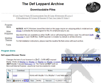 Screenshot of the original look of the Def Leppard Archive